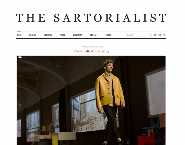 Blogs de Moda Internacionais - The Sartorialist