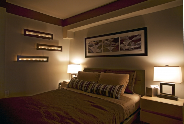 Decora o de quarto de casal feminina - Iluminacion dormitorios modernos ...