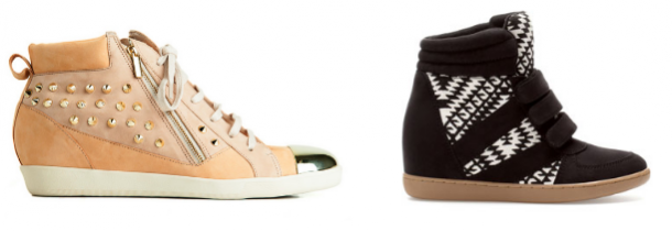 Sneakers da marca Zillian e Stradivarius