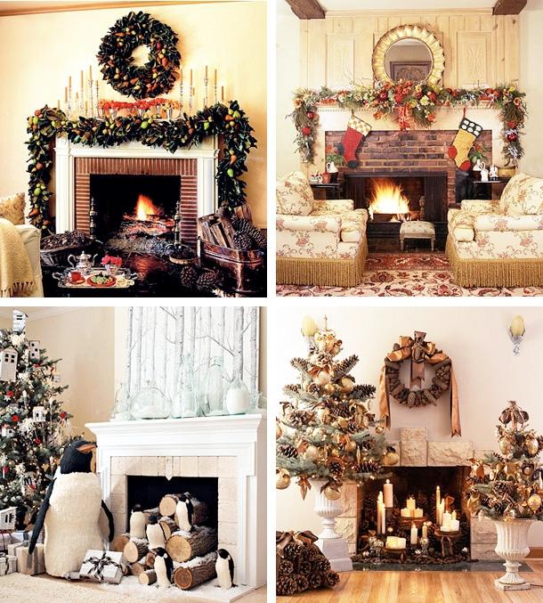 Sugestões para Decorar a Lareira no Natal