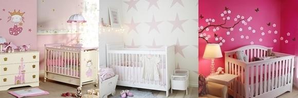 Temas para quarto de bebé - menina